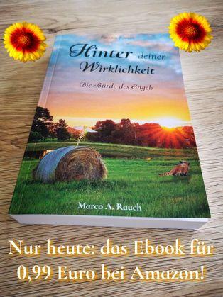 Buch HInter deiner Wirklichkeit von Marco A. Rauch. Geburtstags-Aktion.