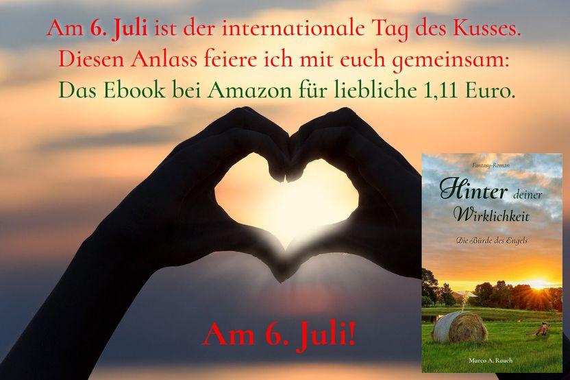 """Werbebild zur Preisaktion am 06.07.2021 zum Roman """"Hinter deiner Wirklichkeit"""" von Marco A. Rauch."""